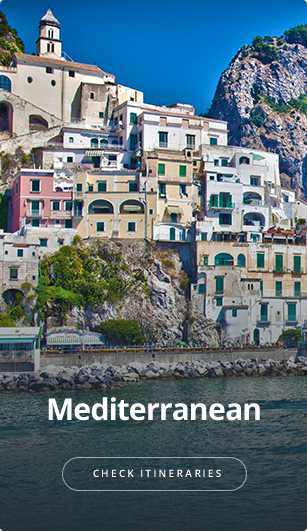 See itineraries for Mediterranean area.