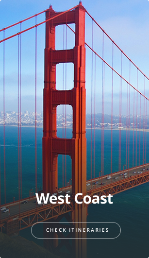 See itineraries for West Coast.